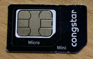 Congstar Prepaid Sim Karte DE Nummer mit ca.9,95€ Restguthaben