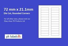 A4 White Multi-Purpose 24 to view 72mm x 21mm Self adhesive labels (500 Sheets)