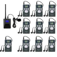 Retekess Wireless Tour Guide System Transmitter+10*Receiver for Church/Meeting