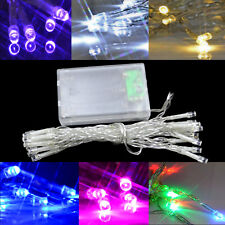 Battery Operated Fairy Wedding Lights 20 LED 3xAA Powered 2m Christmas String