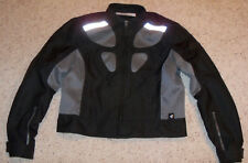 NEW Women's BMW Motorrad Airflow 2 Motorcycle Riding Jacket, 44, Gray Black, 14R