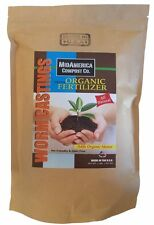 Worm Castings 2lbs of Organic Fertilizer by MidAmerica Compost Co.