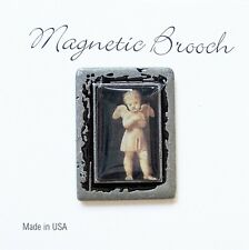 Magnetic Brooch Clip Clasp Pin Vintage Angel Design Accessory Scarves Shawls