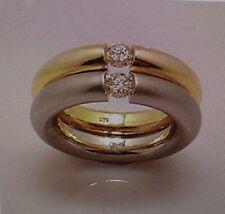 Doppelter SPANNRING 0,34 carat  585 er Gold   Alle Ringgrößen, Alle Goldfarben