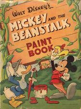 Mickey and Beanstalk coloring book RARE