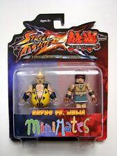 Street Fighter X Tekken S2 Minimates Rufus VS Julia MINT