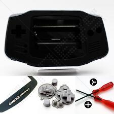 Nuevo Negro Nintendo Game Boy Advance Gba Carcasa (Case/Shell/vivienda) y herramientas