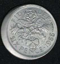More details for 1966 6 pence error coin, 20% off centre strike