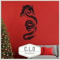Dragon Wall Sticker Oriental Vinyl Transfer Chinese Wyvern Decor Decal Graphic