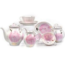 Russian Porcelain Tea set Dulevo Spring 6 persons 15 pcs