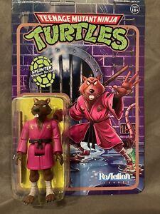 Super 7 Teenage Mutant Ninja Turtles Splinter Reaction Figure Unpunched Card