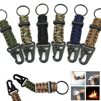 New Outdoor Survival Paracord Bracelet Parachute Cord Key Chain Emergency Rope