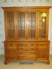 Ethan Allen CIRCA 1776 China Cabinet with Antiqued Glass 18 6828