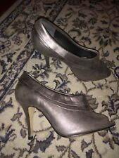 Silver Top Shop shoes size 38 hardly worn
