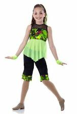Child Extra Large Lime Jazz Dance Costume How We Roll