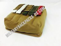 NEW USMC Coyote Brown vehicle Atv pouch ammo mag flare flashlight clip Radio Bag