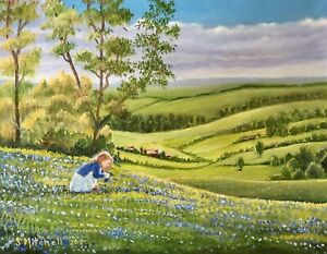"""Origional Oil Painting """"The Beginning Of Spring """" By Artist Sally Mitchell"""