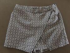 Teen Girls PETER MORRISEY KIDS Skorts Size 14 Black & White Dress Shorts