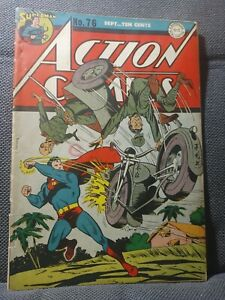 Action Comics 76 | 9/44 | WWII Japanese motorcycle cover | GVG
