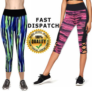 Womens Leggings Ladies Lined Black Tummy Control Lined High Waist Size Girls NEW