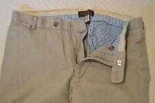New Patrick James Reserve Men's Khaki Stone Flat Front Pants Sz 33