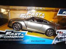 Jada Nissan GT-R R35 Brian's Car Silver Fast and Furious 1/24
