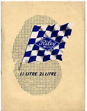 Riley RM 1.5 Litre & 2.5 Litre Saloon 1951-52 UK Market Sales Brochure