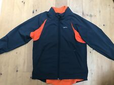 REEBOK Mens Black / Orange 2 in 1 Sports Active Jacket & Gilet @ UK L Large Coat
