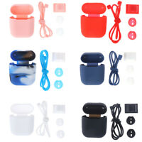4 in 1 Silicone Case Cover for AirPod Earphone Accessories Anti-lost Strap`UK