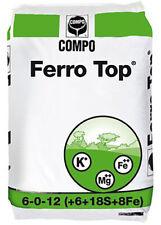 Concime per Prato - Ferro Top® 6-0-12+6+45+8 da Kg 25 Compo - Rinverdente