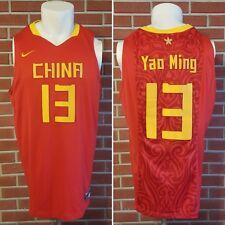 Nike Team China Yao Ming #13 Olympic Polyester Basketball Jersey Sewn Size XXL