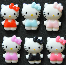 Hello Kitty Resin Flatbacks 6 pcs