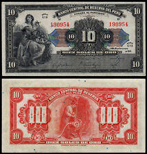 PERU 10 SOLES (P67a) 1941 UNC