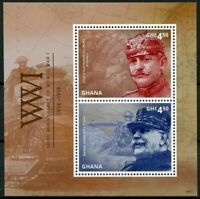 Ghana 2014 MNH WWI WW1 World War I Joseph Joffre 2v S/S Military Stamps