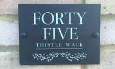 MATT BLACK & WHITE IVY WAY ACRYLIC HOUSE SIGN