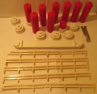 Marx 1/24 or 1/32 Trestles, PIers, and Guard Rail Slot Car Lot