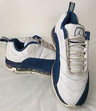 Air Jordan CMFT Max Air 12 Big Kids White Silver French Blue Size 5.5 Youth GUC