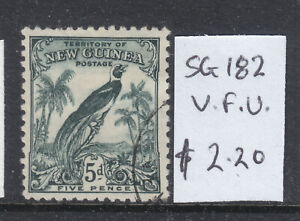 NEW GUINEA:  5d   B of P  SG 182  F.USED.