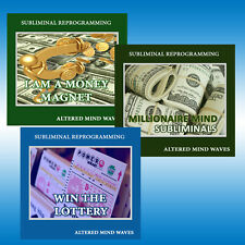 Get More Money Subliminal Program Bundle - 3 Attract Money Subliminal CD's