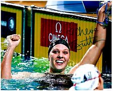 Chloe Sutton Signed Autographed Team U.S.A. Olympic Swimming 8x10 Pic. A