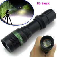 10000LM High Power Zoomable 18650 Flashlight Torch Camping Lamp White Light US