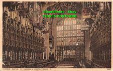 R365618 Windsor Castle. St. George Chapel. Choir. E. Photochrom. 1935