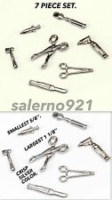SET OF 7 (SEVEN) PIECE DOCTOR INSTRUMENTS (METAL) DOLLS MINIATURE 1:12 SCALE.
