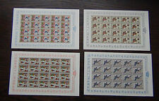 More details for liechtenstein 1963 minnesingers 3rd issue in complete sheets of 20 mnh