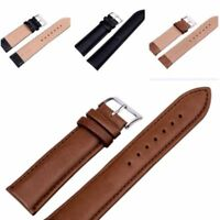 New Quality Unisex Leather Black Brown Wristwatch Watch Strap Band Womens Mens