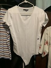 Abercrombie & Fitch Womens SzXL Short Sleeve White Body Suit