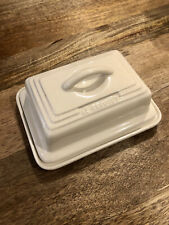 Le Creuset Butter Dish Almond/White