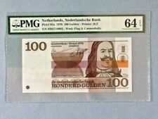 Netherlands P-93a - 100 Gulden; 1970 ; PMG Graded 64 EPQ