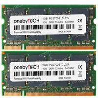 2GB Kit (2X1GB) PC2700S DDR 333 200 PIN SODIMM Laptop Notebook Memory RAM