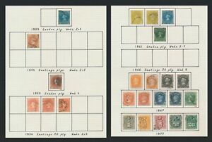 CHILE STAMPS 1853-1877 COLUMBUS ISSUES INC GOOD Sc #2 10c WHITE PAPER